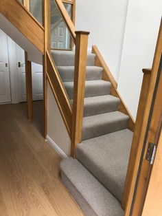 We love the way this Greendale Carpets Ltd Casablanca contrasts with the woodwork of the staircase. Flooring Shops, Carpet Flooring, Carpet Shops, Stair Carpet, Carpet Installation, Carpet Styles, New Carpet, Carpet Ideas, Casablanca
