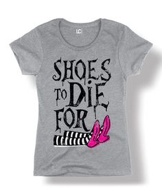 This Athletic Heather 'Shoes to Die For' Witch Tee - Women & Plus is perfect! #zulilyfinds