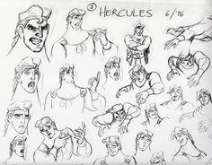 The Art of Disney's Hercules (1997) • Art of © Walt Disney Animation Studios ★ || Website | (www.disneyanimation.com) • Please support the artists and studios featured here by buying their works from their official online store (www.disneystore.com) • Find more artists at www.facebook.com/CharacterDesignReferences and www.pinterest.com/characterdesigh || ★