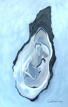 """Oyster Study 2""  by Gallavantor Art at www.straighttoart.com Charleston SC"