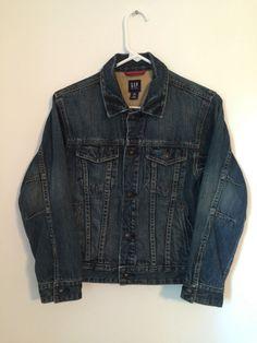Boys GAP KIDS Blue Jean Denim Jacket Large L 10 Coat Children Child Buttoned #GapKids #JeanJacket