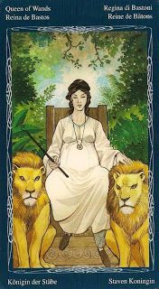 Queen of Wands from Tarot of the Mystic Spiral