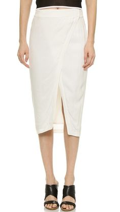 ADDISON Repetti Asymmetrical Wrap Skirt