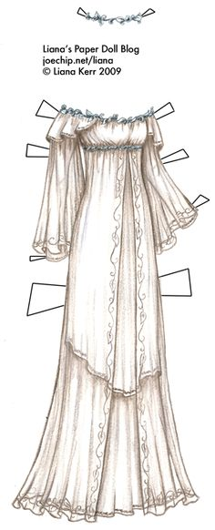 Halloween LOTR Costume Series #7: Galadriel's White Layered Gown with Silver Circlet | Liana's Paper Dolls