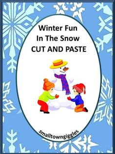 With this Winter Activities Fun In The Snow Cut and Paste Worksheet set, students will practice visual discrimination, color recognition, match pictures, match shapes, letter matching, fine motor skills, sort by size, complete patterns, count and read number words, add and subtract.