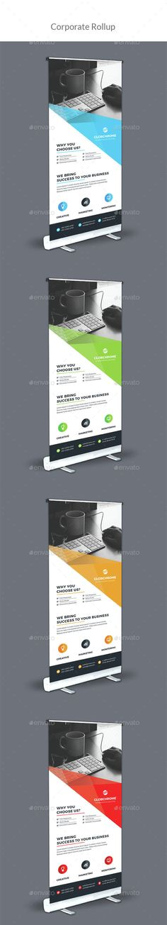 Corporate Roll-Up Template Vector EPS, AI. Download here: http://graphicriver.net/item/corporate-rollup/15416667?ref=ksioks