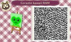 Este es un QR Code para Animal Crossing, creado por mí; como podéis observar, es un corazón kawaii, con un color verde. [3-18]  Lo podéis encontrar en mi canal de YouTube: https://www.youtube.com/channel/UCh6uwa2CjSgR4WQ-ghRQY6Q (Roxy).  ¡Espero qué os guste! ;)