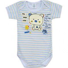 Body Masculino para Bebê Amigo Urso - Patimini