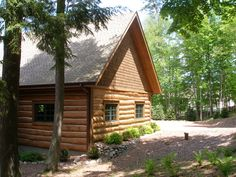 In this picture of a Design Build Log home you can see the cedar shingles in the gable ends, log sided walls and heavy timbers around the windows and on the corner. Makes for a rugged Northwoods feel doesn't it? For more of this beautiful home you can visit the following board. http://pinterest.com/northtwinbuild/ntb-hand-scribed-log-lake-home-in-phelps-wi/