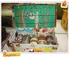 @margaretss Bracelet box. caixa para pulseiras. artes e crafts