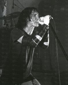 Trent Reznor performing with Nine Inch Nails in Boston 1990s