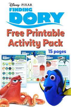 Free Printable Finding Dory Activity Pack