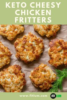Try out this super easy cheesy chicken fritters recipe and fall in love with chicken patties all over again. You will find that this is a quite surprising way of using chicken breasts, but it surely works. Diner Recipes, Low Carb Recipes, Cooking Recipes, Healthy Recipes, Seafood Recipes, Pasta Recipes, Yummy Recipes, Chicken Patty Recipes, Ground Chicken Recipes