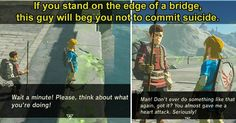 10 Fantastic Details Hidden in Zelda: Breath of the Wild. I already love this guy.
