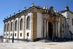 The Joanina Library of the University of Coimbra was built from 1717 to 1728 during the reign of John V of Portugal. Its Baroque portal is decorated with a national coat of arms of Portugal and the golden ceiling is richly decorated with beautiful paintings.