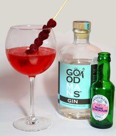 Goodmans Gin frambozen rozen cocktail
