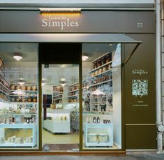 Le Carré des Simples by Agence Halley des Fontaines, retail design, front window, herbal tea shop