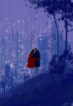 Illustration by Pascal Campion Art And Illustration, Pascal Campion, Couple Art, Storyboard, Love Art, Les Oeuvres, Amazing Art, Fantasy Art, Art Drawings