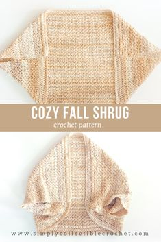 Crochet Pattern - COZY FALL SHRUG: The whole base of the sweater is crocheted using it, and is surrounded by a subtle border. CLICK THE LINK NOW! One of the patterns that stands out the most this season is this beautiful cozy fall shrug. Crochet Shrug Pattern Free, Crochet Flower Patterns, Crochet Shawl, Crochet Cardigan, Crochet Flowers, Knit Crochet, Crochet Stitches, Crochet Shrugs, Crochet Sweaters