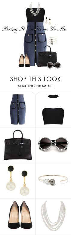 """""""Sam Cooke and Lou Rawls- Bring It On Home To Me"""" by texasradiance ❤ liked on Polyvore featuring Chicwish, Hermès, Kate Spade, mizuki, Christian Louboutin and Humble Chic"""