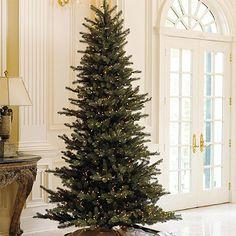 slim faux christmas tree... dining room?