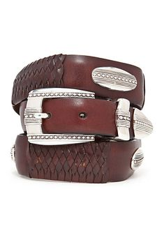 Add a dapper accent to your outfits with this belt. Crafted with a silver-plated finish for a touch of refinement, this accessory lends a handsome option for everyday styling. Country Belt Buckles, Country Belts, Versace Belt, Gg Belt, Western Belts, Belts For Women, Black Belt, Custom Belts, Women Accessories