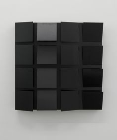 Hartmut Bhöm - RASTERFELD SCHWARZ - 2015 - GRID-FIELD BLACK - 2015 - PVC; 45 x 45 x 8 cm