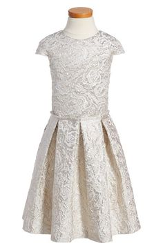 Alivia Simone 'Imperial Ballerina' Metallic Jacquard Party Dress (Little Girls & Big Girls) available at #Nordstrom