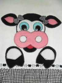Vaca Baby Quilt Patterns, Applique Patterns, Applique Designs, Quilting Designs, Mini Quilts, Small Quilts, Baby Quilts, Wool Applique, Applique Quilts