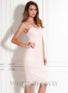 f5e086785140b A stunning midi length dress by Samantha Rose. A lace style featuring thin  straps and a lace fringe hem. Available in Navy & Peach.