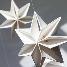 Tine Mouritsen The young Danish architect and designer Tine Mouritsen has designed Livingly's Annual Season's Design 2013, the Pleated Star Mobile. The mobile is part of a series of delicate ornaments inspired by paper structure, strenght, texture and origami. Simple shapes become three-dimensional objects for hanging on the Christmas tree or decorating the table.