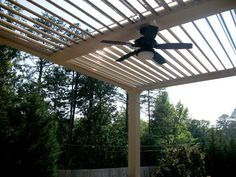 Adjustable Pergola - with Integrated Ceiling Fan.