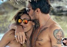 Belen Rodriguez in vacanza a Formentera indossa occhiali da sole Spektre