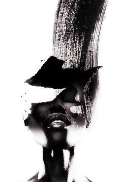 BLACK RAIN, ANTONIO MORA (aka mylovt) ~ a Spanish artist who combines with talent portraits photographed in various landscapes. Black Art Painting, Black Artwork, Photoshop, Grafik Design, African Art, African American Artwork, Portrait Art, Oeuvre D'art, Female Art