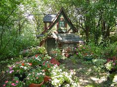 Small cottage in the garden