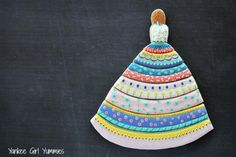 Patterned Dress - Cookie Puzzle with Rose Top