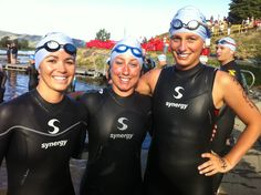 7-16-11 TEAM Synergy - Brittany Scalabrin, Sara Mickelson, Heidi Goedhart at the Scofield Tri