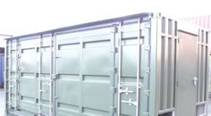 Loading doors to the shotblasting room on this modified storage container