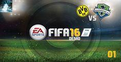 "Let's Play FIFA 16 Demo #01 - ""Dortmund vs Seattle"" [XBox360 Gameplay,De..."