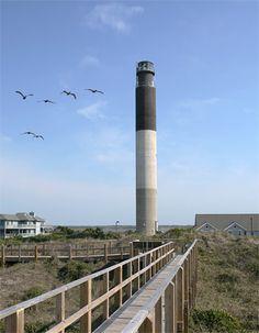 Oak Island Lighthouse, North Carolina at Lighthousefriends.com