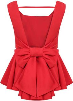 backless bow top. #romwe