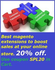 Best #magento extensions to boost sales at your online store. 20% off. Get from http://mage-extensions-themes.com/magento-extensions.html Use coupon SPL20 in Cart.
