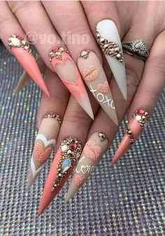 Manicure Nail Designs, Cute Acrylic Nail Designs, Manicure E Pedicure, Best Acrylic Nails, Cute Acrylic Nails, Nail Art Designs, Nails Design, Acrylic Art, Gorgeous Nails