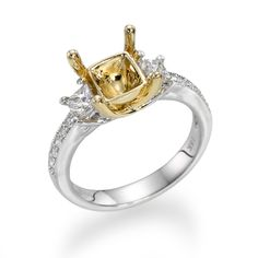 Professional engagement ring mountings and mounted bridal rings by Mariloff Diamonds. Visit our show floors in Atlanta and Dallas. Engagement Ring Settings, Engagement Rings, Unique Settings, Dream Ring, Bridal Rings, Dallas, Fine Jewelry, Stone, Yellow