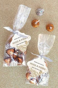 Hugs and Kisses | 24 DIY Wedding Favor Ideas