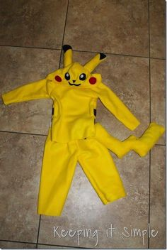 DIY Pokemon Pikachu Costume (1)
