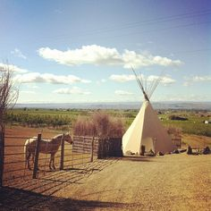 cherry wood bed breakfast & barn // yakima #teepees!!!