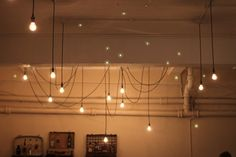 draped lights at Seven at Brixton Cool Lighting, Chandelier Lighting, Track Lighting, Lighting Ideas, Chandeliers, Store Interiors, Coffee Type, Beautiful Homes, Spanish Desserts