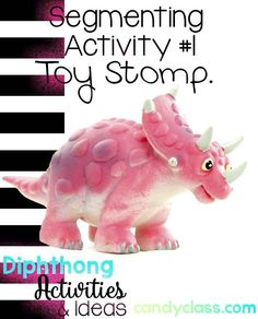 Love the toy stomp idea for segmenting words with diphthongs. This post has a lot of great activity ideas for helping students to master this important phonics skill.