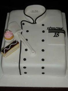 Chef's jacket, Charles/ 21 happy Birthday, We love you ! Happy Birthday Chef, 21st Birthday, Cakes That Look Like Food, Chef Cake, Bithday Cake, Graduation Party Foods, Sugar Bread, Cupcake Cakes, Cupcakes